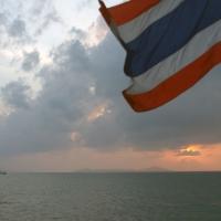 Небо и флаг Таиланда
