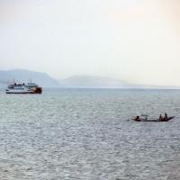 Рыбак и паром
