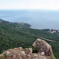 Вид на трассу Ялта-Севастополь