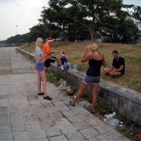 Сбор бегунов на пробежку вдоль Чавенга