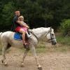 На лошади с ребенком