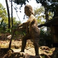 Фигуры фермера при работе с дурианами