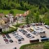 Вид на парковку в альпах