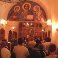 Ночная служба в храме на Самуи