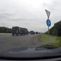 Военные на трассе