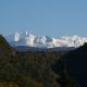 Вид на горы в снегу
