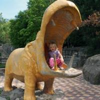 Бегемот пытается сьесть ребенка